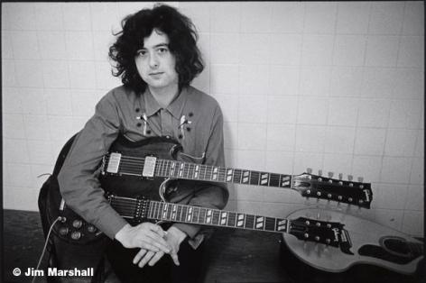 Jimmy Page, 1971, 11 x 14 Silver Gelatin Photograph