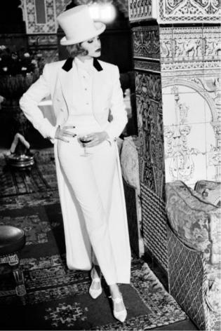 Dietrich Chic, Morocco, 1992, Silver Gelatin Photogaph