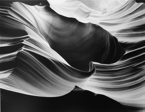 Hollows and Points, Peach Canyon, 1984, 22 x 28 Inches, Silver Gelatin Photograph
