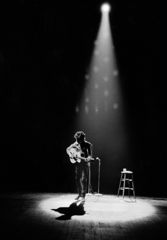 Bob Dylan In Spotlight, Princeton, NJ, 1964, Silver Gelatin Photograph