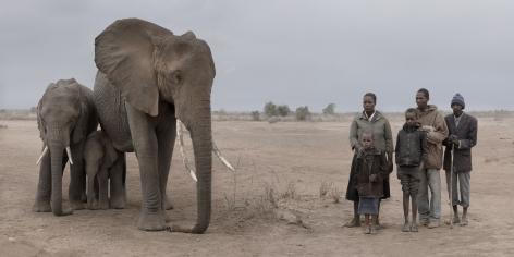 ELEPHANT & HUMAN FAMILY, 2018,