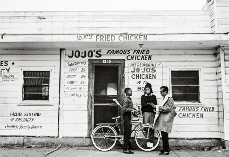 James Baldwin, Jojo's Fried Chicken, New Orleans, 1963, 16 x 20 Inches, Silver Gelatin Photograph, Edition of 25