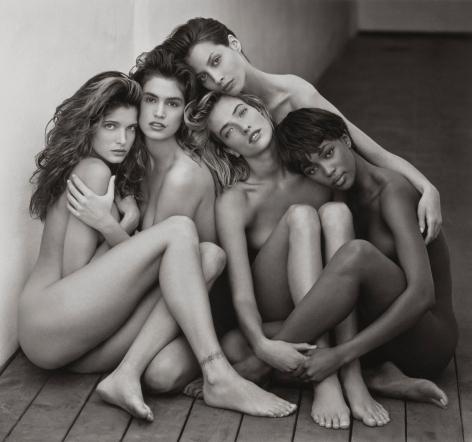Herb Ritts Stephanie, Cindy, Christy, Tatjana, Naomi, Hollywood, 1989