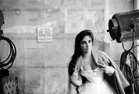 Elizabeth Taylor on the set of Raintree County, MGM Studios, Culver City, California, 1956