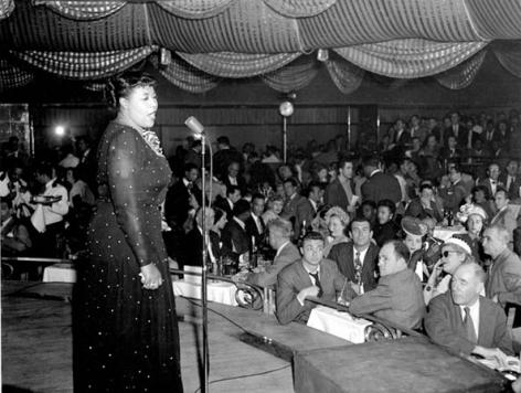 Ella Fitzgerald, Paris, 1953, 11 x 14 Silver Gelatin Photograph