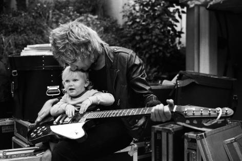 Rod Stewart and daughter, Kimberly, Bel Air, CA, 1981, Silver Gelatin Photograph