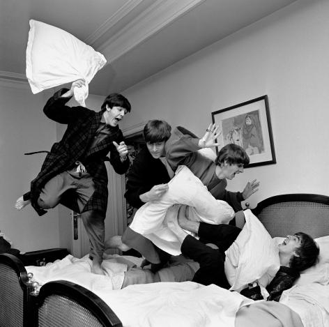 Harry Benson Beatles Pillow Fight, Paris, 1964