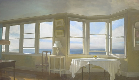 Morning View, Beach House, 2012, Oil on linen, 28 x 48 in.