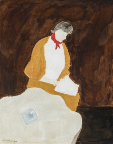"""MILTON AVERY (1885–1965), """"Red Kerchief,"""" 1960. Oil on canvas, 40 x 32 in."""