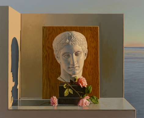 Still Life with Bust and Roses, 2011, Oil on canvas, 20 x 24 in.