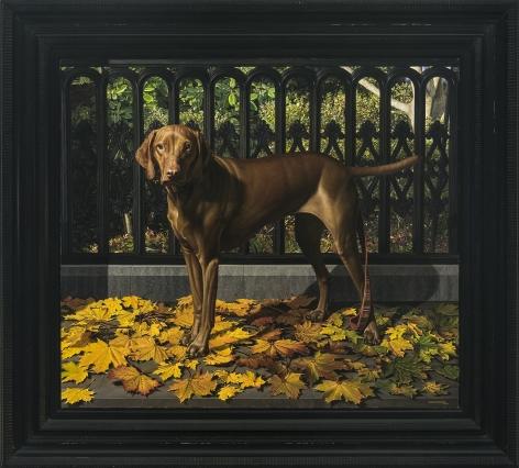 Lulu, Near Harmony on Main: Stonington 2007, 2007-8, Oil on canvas, 36 x 41 in.