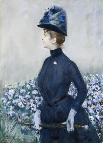 PAUL CÉSAR HELLEU (1859-1927), La Femme aux fleurs (Portrait of Mathilde See), about 1910