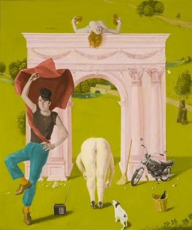 "Honoré Sharrer (1920–2009), ""Roman Landscape,"" 1990. Oil on canvas, 20 x 17 in."