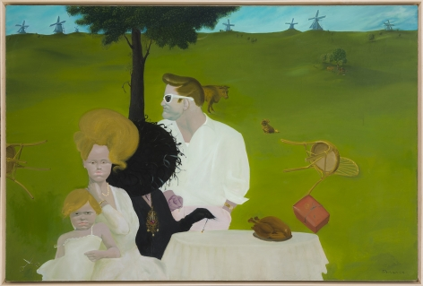 Before the Divorce, 1976/1999.  Oil on canvas, 48 x 72 in.