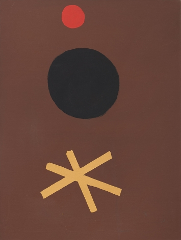 Adolph Gottlieb (1903-1974), Asterisk on Brown, 1967