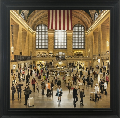 Grand Central Terminal: An Early December Noon in the Main Concourse, 2009-12, Oil on linen, 74 x 76 in.