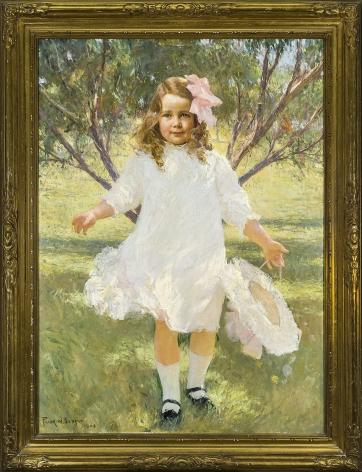 FRANK WESTON BENSON (1862-1951), Portrait of a Young Girl, Mary Estes Smith, 1909