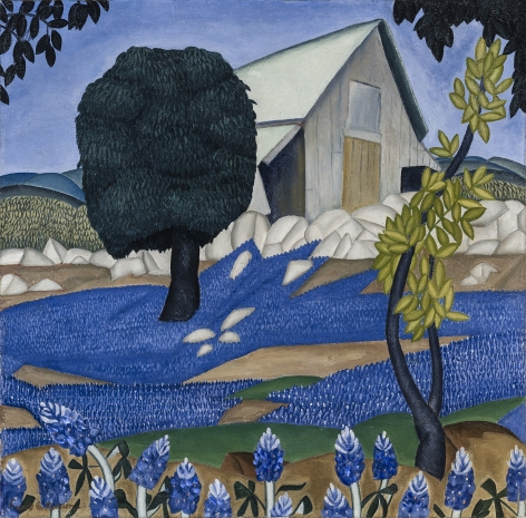 Texas Bluebonnets, c. 1926, Oil on canvas, 23 7/8 x 24 1/8 in.