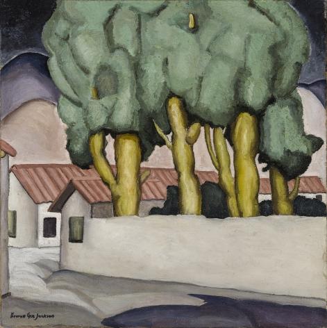Street in Ajijic, 1926, Oil on canvas, 24 x 24 in.