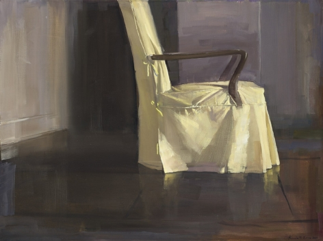 Margaret's Chair 1, 2011, Oil mounted on board, 18 x 24 in.