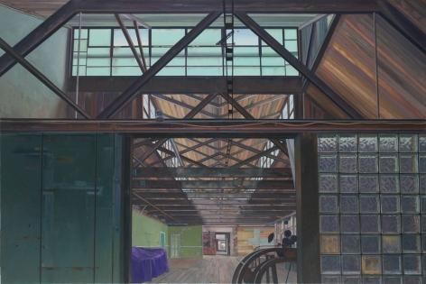 Dye House, 2012, Oil on canvas, 60 x 90 in.