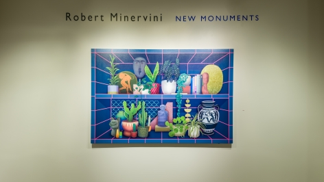 installation view of Robert Minervini. New Monuments at Hirschl & Adler Modern, March 14 - April 20, 2019.