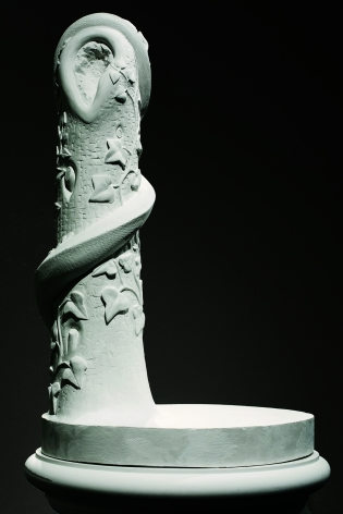 The Stand: Eve Disconsolate, 2013, Plaster, 69 x 26 x 26 in.