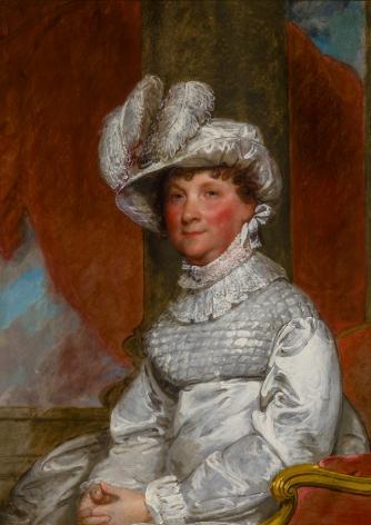 """GILBERT STUART (1755–1828), """"Portrait of Mrs. Barney (Ann Otis) Smith,"""" about 1809–18. Oil on wood panel, 36 1/2 x 26 1/2 in."""