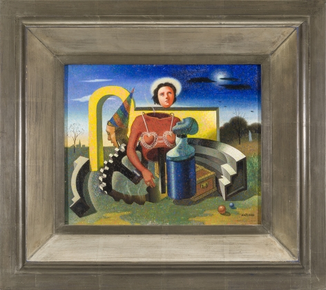 GEORGE MARINKO (1908–1989). Adoration, about 1935–42. Oil on Masonite, 8 x 10 in.