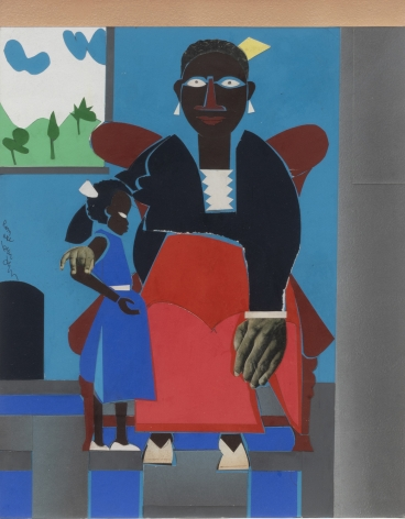 Romare Bearden (1911-1988), Family (Mother and Child), 1973
