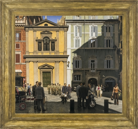 Mid-Day, Rome, 2005-6, Oil on canvas, 39 x 42 1/2 in.