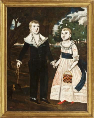 JONATHAN BUDINGTON (1779-1823), Portrait of the Cannon Children, 1795
