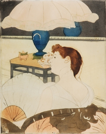 Mary Stevenson Cassatt (1844–1926). The Lamp, 1890–91. Drypoint, soft-ground etching, and aquatint, printed in colors, inked à la poupée, on laid paper,  12 3/4 x 9 15/16 in.