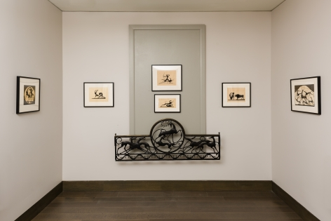 """""""Elegance of Outline: Silhouettes by Hunt Diederich (1884–1953"""" feature wall, Gallery 2."""