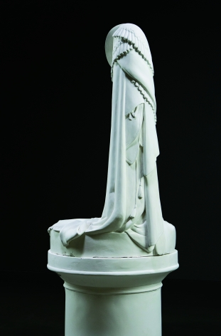 The Stand: Greek Slave, 2013, Plaster, 66 x 33 x 33 in.