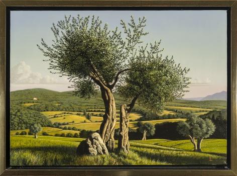 Italian Landscape: Umbria, 2014, Oil on canvas, 14 x 20 inches