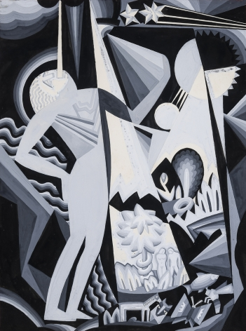 Winold Reiss (1886-1953), Composition IV, n.d.