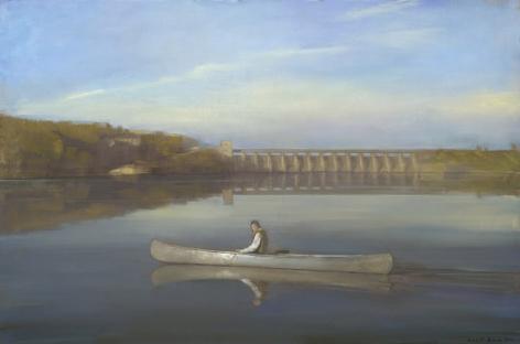Gavin's Point, 2011, Oil mounted on board, 20 x 30 in.
