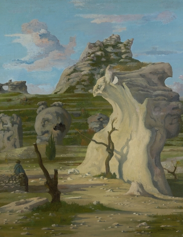 Eugene Berman (1899-1972), Rochers Du Val d'Enfer, 1933