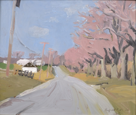 Fairfield Porter (1907–1975), Cobb Road, Water Mill in April, 1966