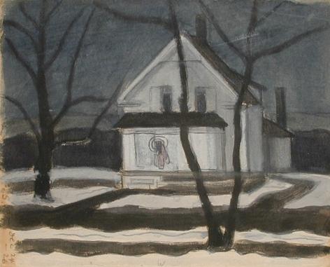Oscar Bluemner (1867-1938), Snow, December, 1926