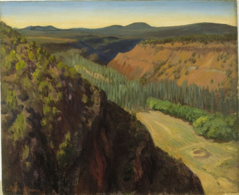 John Sloan (1871-1951), Frijoles Canyon, 1922