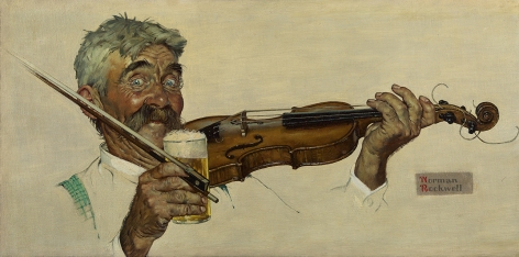 Norman Rockwell (1894-1978), The Fiddler, 1940