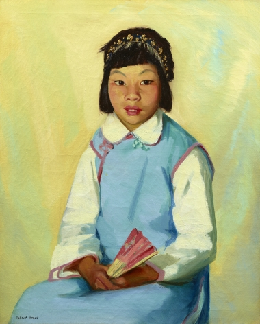 portrait of a girl in blue