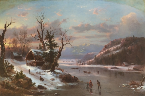 FrançoisRégisGignoux (1816-1882), Winter , 1855