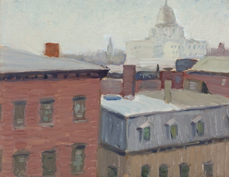 Niles Spencer (1897-1952), The Capitol, Providence, circa 1913-15