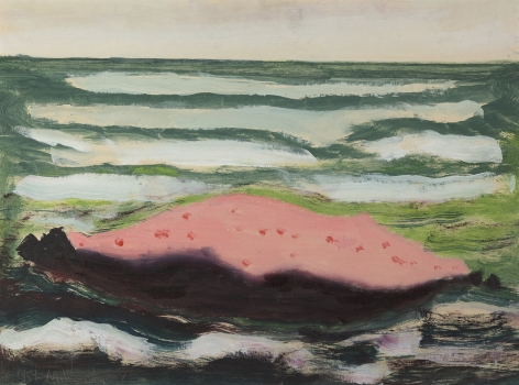 Milton Avery (1885-1965), Pink Island, White Waves, 1959