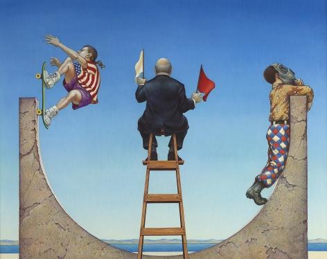 Michael Bergt (b. 1956), Slippin' N' Slidin', 1990