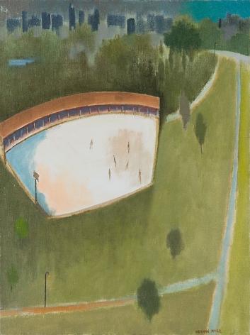 Herman Maril (1908-1986), Central Park Skaters, 1981