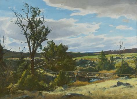 Ogden Minton Pleissner (1905-1983), Upper Circle Bridge, Wyoming, circa 1941